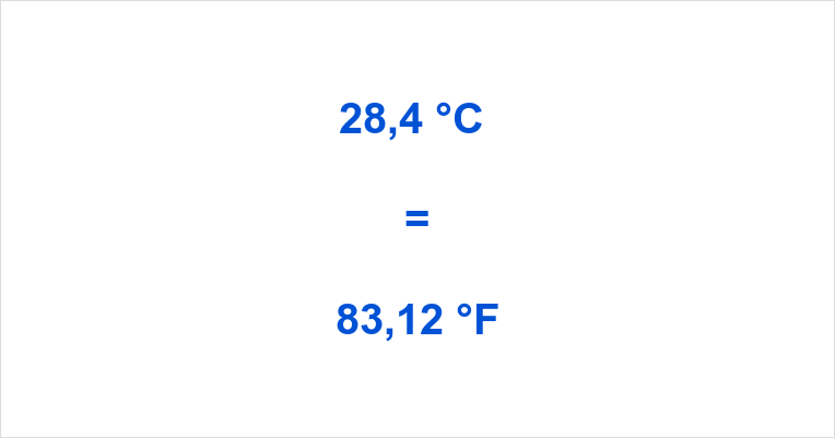 28.4 c to f