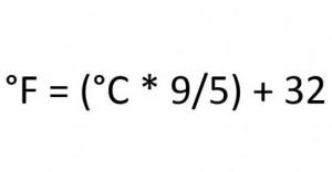 Celsius in Fahrenheit