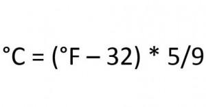 Fahrenheit in Celsius